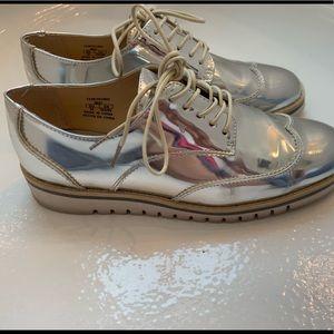 Zara Woman Oxford Platinum Shoe